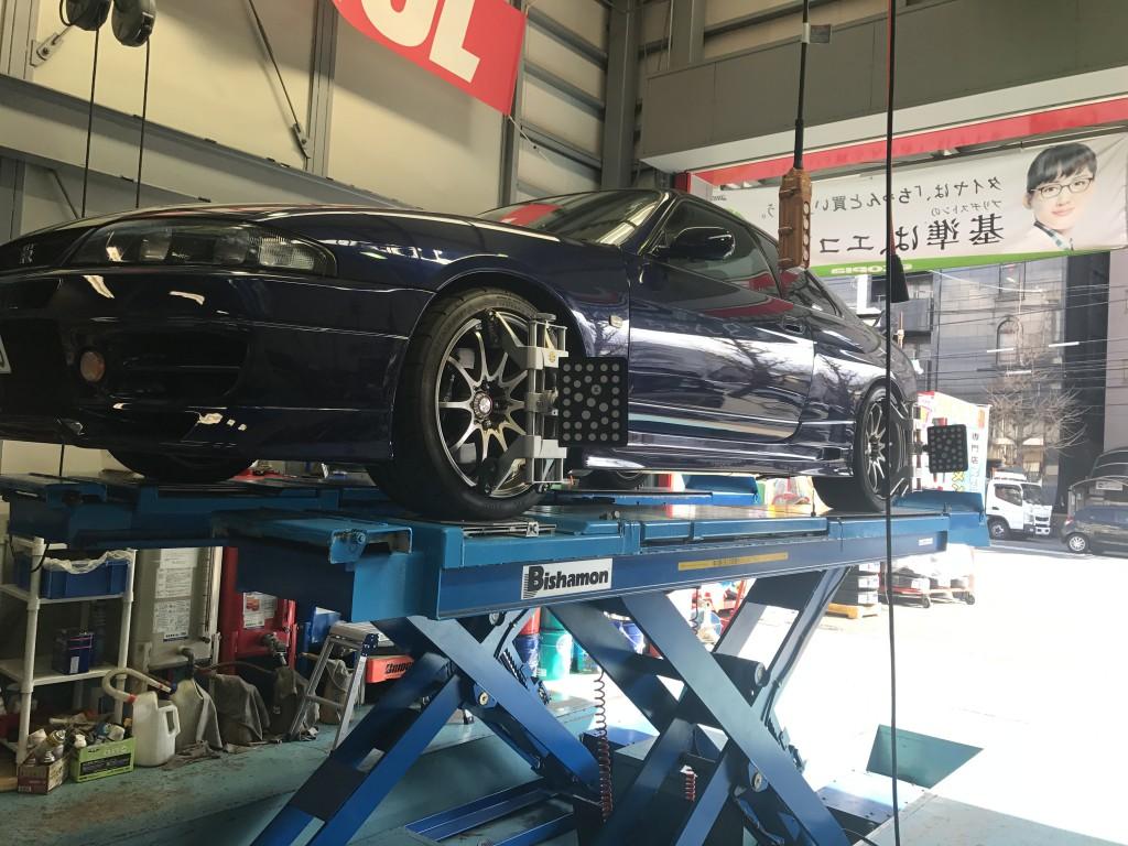 33GT-Rアライメント&車高調整
