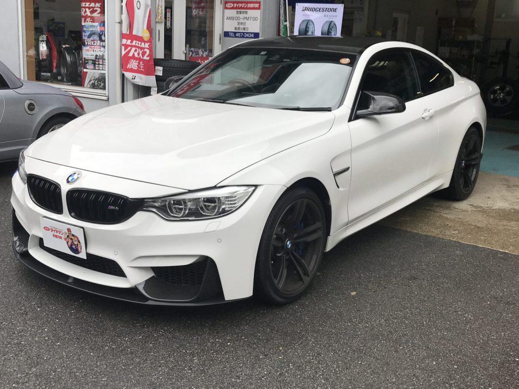 BMW M4 (F82) スプリング交換 アライメント調整