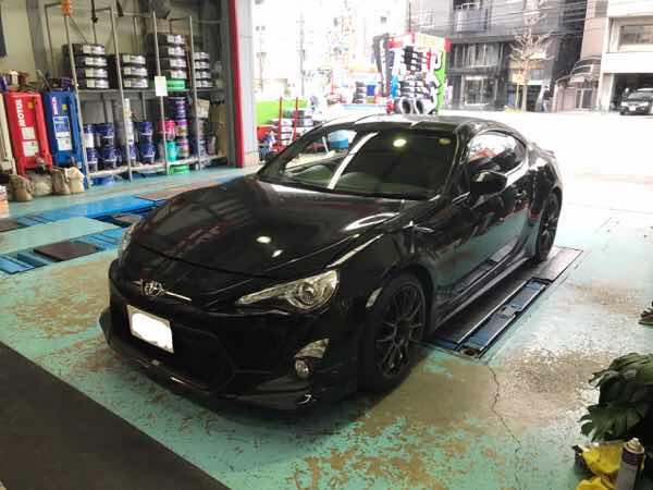 トヨタ86 TEIN FLEX-A取付