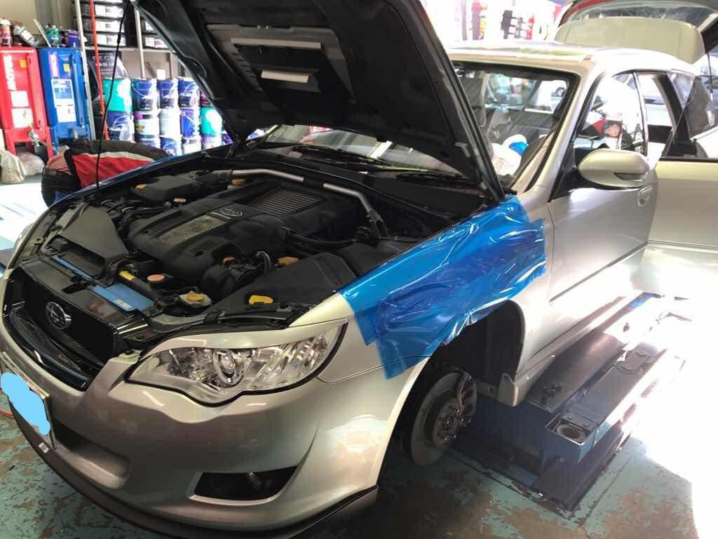 レガシーBP5 KW(カーヴェー)車高調OH取付