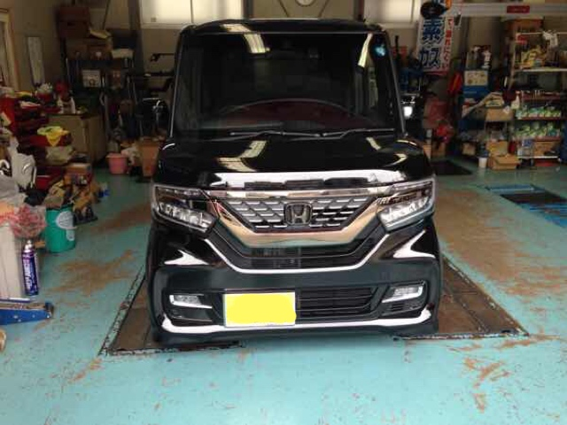 N-BOX JF3 TEIN FLEX-Z(車高調)タイヤ&ホイール アライメント調整