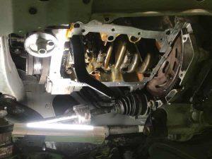 ダイハツムーブ エンジンオイルパン交換