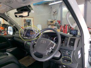 200系ハイエース ナビ・ドライブレコーダー・ETC・クルーズコントロール・取付